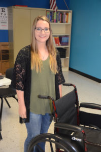 Tyler Cope, 17, already has her certified nursing assistant license.